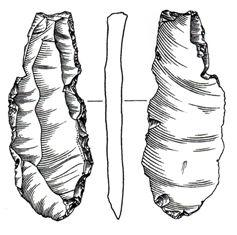Paleolithic burin from River Lymn
