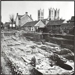 Excavation in the Roman forum, Lincoln