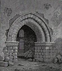Tealby doorway, 1872 drawing